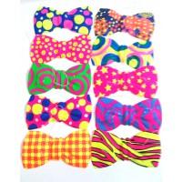 עניבות פפיון פלסטיק-צבעוניות,